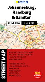 Street Map Randburg, Joburg, Sandton