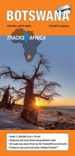 Tracks 4 Africa Botswana map