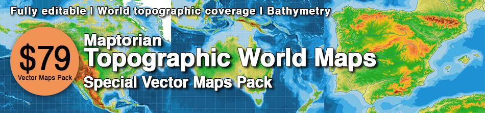 Topographic World Maps