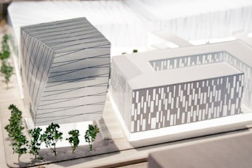 De Lorimier Docks Project Model - Aerial view
