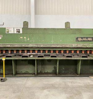 Cizalla Mariani (italiana) Mecánica capacidad de corte 6 mm x 4 metros de largo