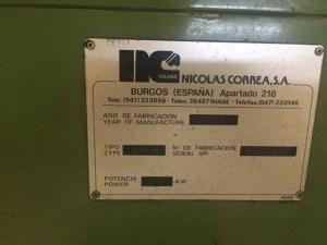 FRESADORA CORREA A16 C