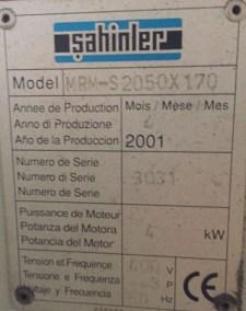 Cilindro Curvador Sahinler 2050x6mm