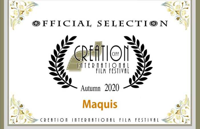 Maquis seleccionada para el Creation International Film Festival