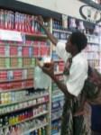 Malita's mother picking groceries