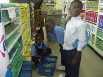 The kids making their shopping