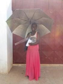 Umbrellas are essential during the rain season