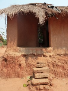 This small house can host a full family of 10 people during the night but is not good enough during the rain season