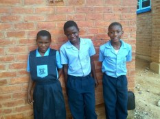 Joyce Witness and Ramos wearing their brand new school uniform