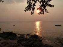 A beautiful sunset on lake malawi