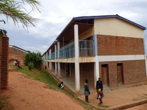 The building of the secondary school at Wukani