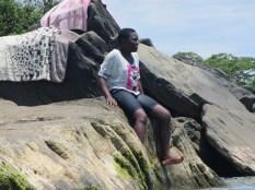 Joyce on the rocks