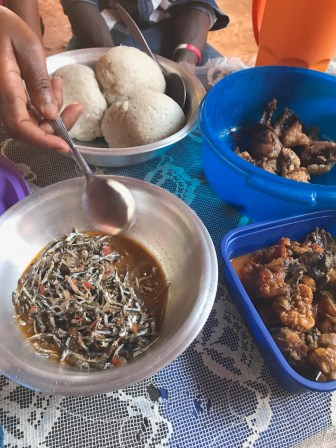 Lunch: usipa and nsima