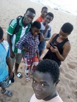 Having fun at Chikale beach