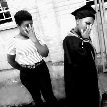 Joyce still with graduation gown