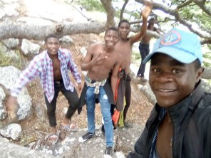 Having fun with friends