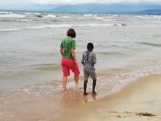Walking at Kande beach