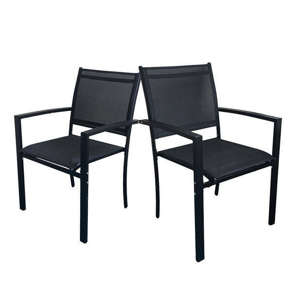 MILANO PATIO CHAIR - 2 PACK