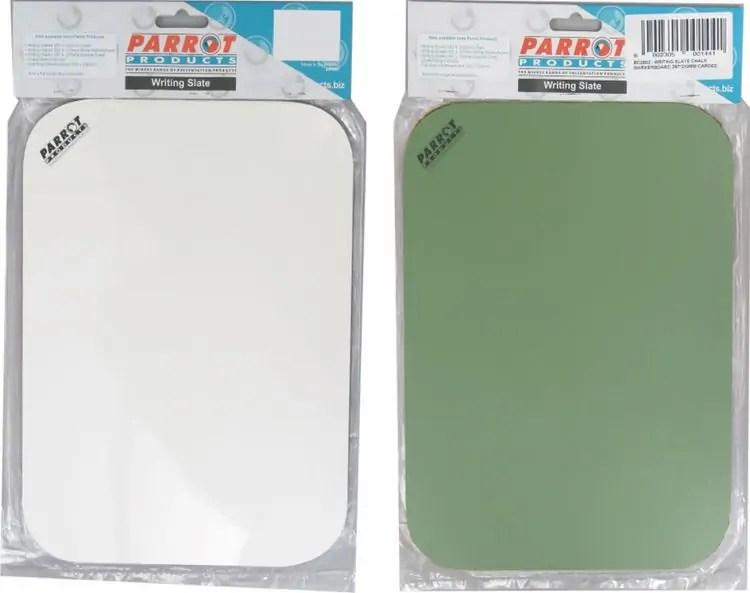 PARROT WRITING SLATE WHITEBOARD/CHALKBOARD DOUBLE SIDED