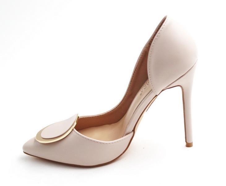 Abra high heel court shoe nude