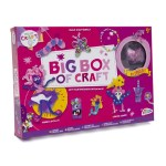 Big box of craft supplies pink