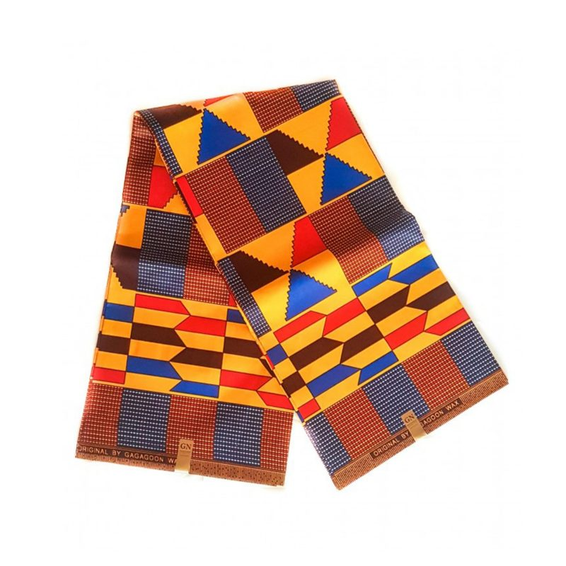 Color Kente African Print Fabric Poly