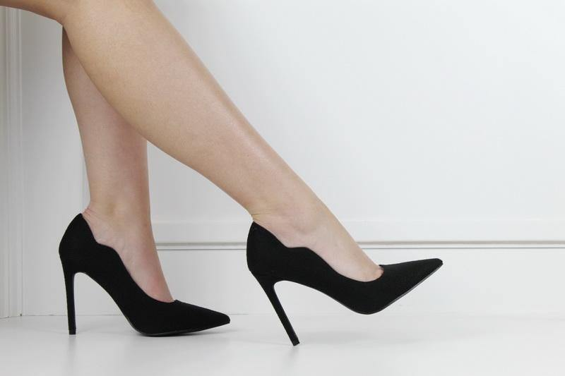 Harley 10cm fabric material courts black