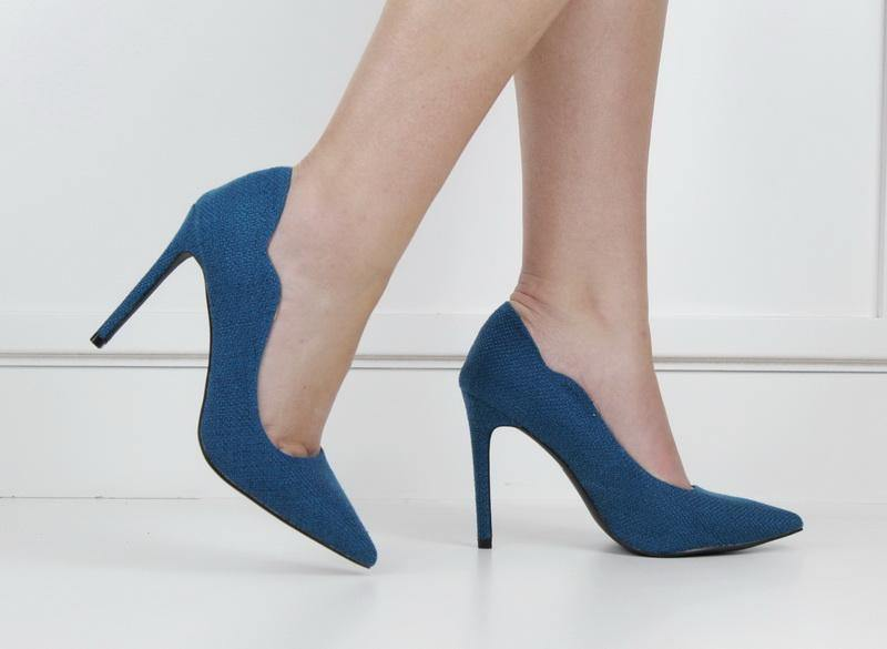 Harley 10cm fabric material courts teal