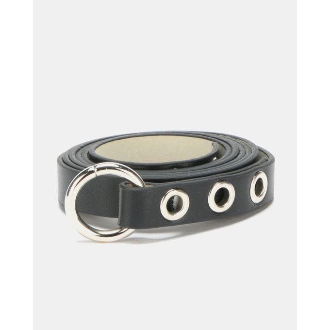 Joy Collectables Circle Detail Belt Black