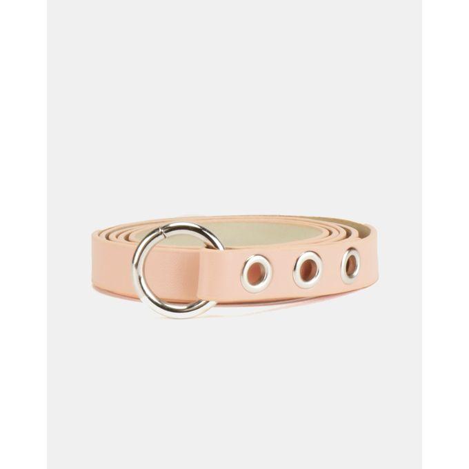 Joy Collectables Circle Detail Belt Pink