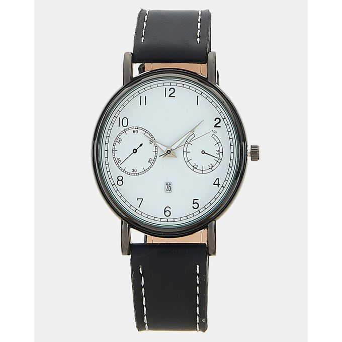 Joy Collectables Classic Round Watch Black/White
