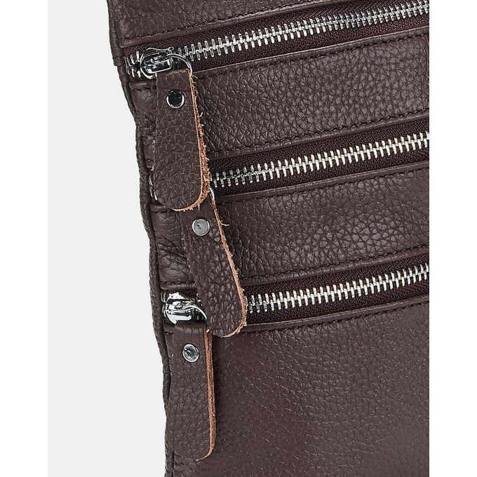 Joy Collectables Leather Corssbody Bag Choc