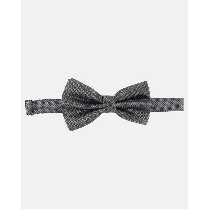 Joy Collectables Plain Twill Bow Tie Charcoal