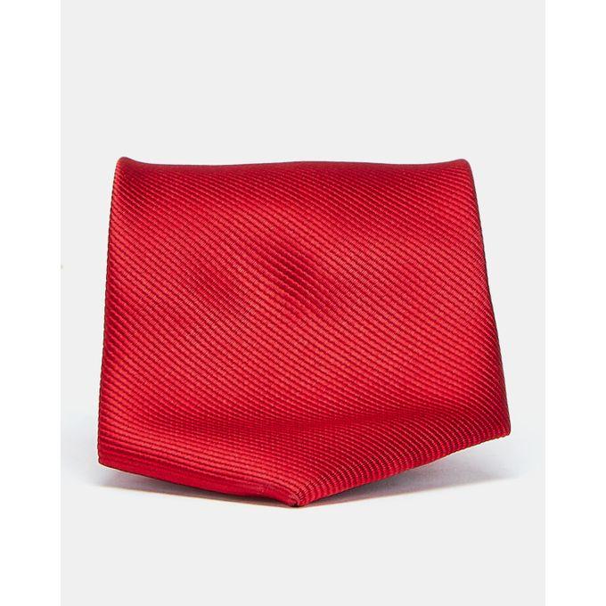 Joy Collectables Plain Twill Tie Dark Red