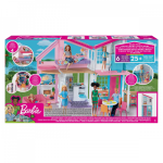 Malibu House 2 Story Dollhouse with Transformation Features and 25+ Pieces