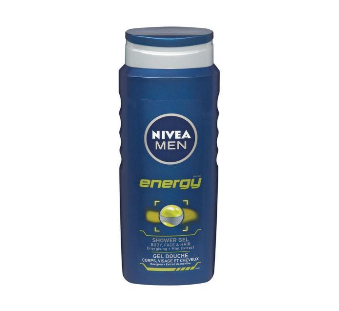 Nivea Shower Gel Energy For Men (1 x 500ml)