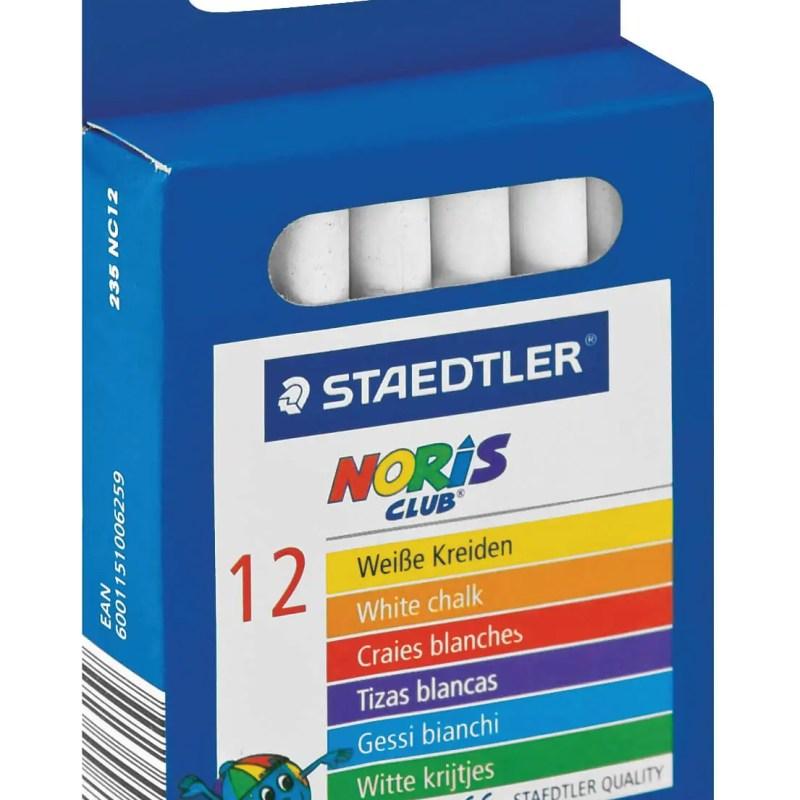 STAEDTLER NORIS CLUB CHALK WHITE 12 PACK