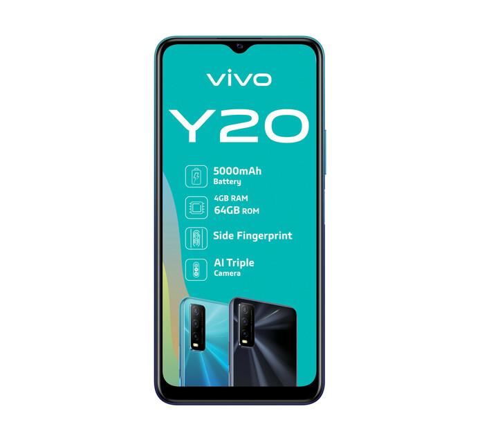Vivo 64GB Y20 Dual Sim Obsidian Black