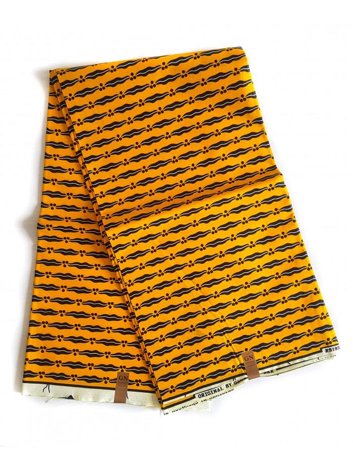 Yellow Kgofu Poly African Print Fabrics