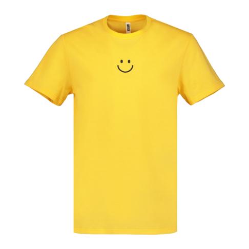 Men's Yellow 'Smile Icon' Graphic T-Shirt