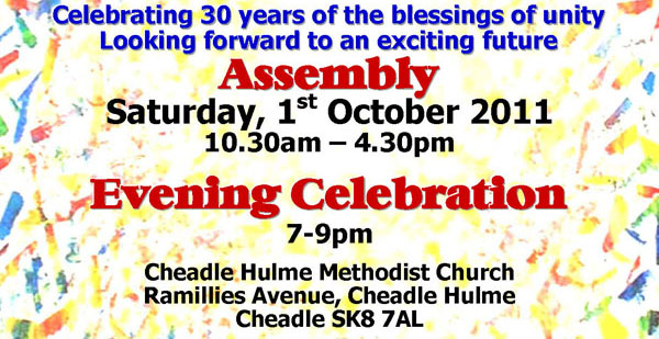 Saturday 1st Oct, Cheadle Hulme Methodist Church, SK8 7AL
