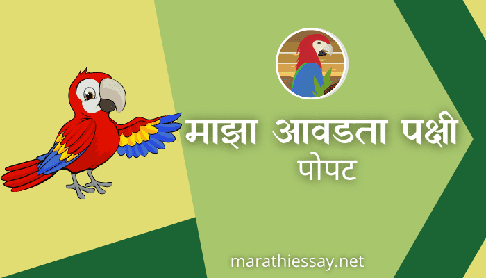 माझा आवडता पक्षी पोपट मराठी निबंध Essay on My Favorite Bird Parrot in Marathi