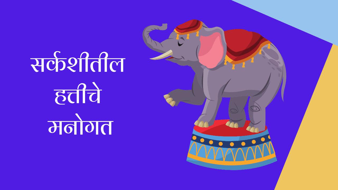 सर्कशीतील हत्तीचे मनोगत मराठी निबंध   Autobiography of Circus Elephant Essay in Marathi