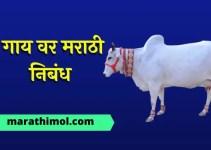 गाय वर मराठी निबंध Essay On Cow In Marathi