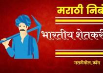 भारतीय शेतकरी वर मराठी निबंध Essay On Indian Farmer In Marathi