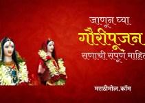 गौरीपूजन विषयी संपूर्ण माहिती Gauri Pujan In Marathi