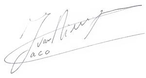 jaco-handtekening