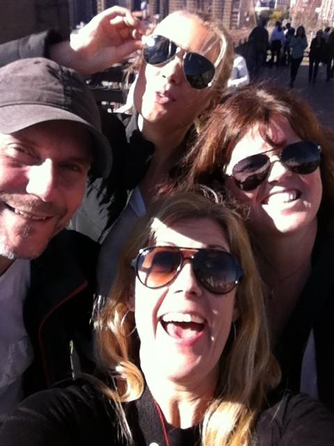 Med fina människor i New York. Foto: privat