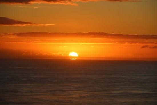 Soluppgång vid Fyren bortom Playitas. Vackert så det förslår. Foto: privat