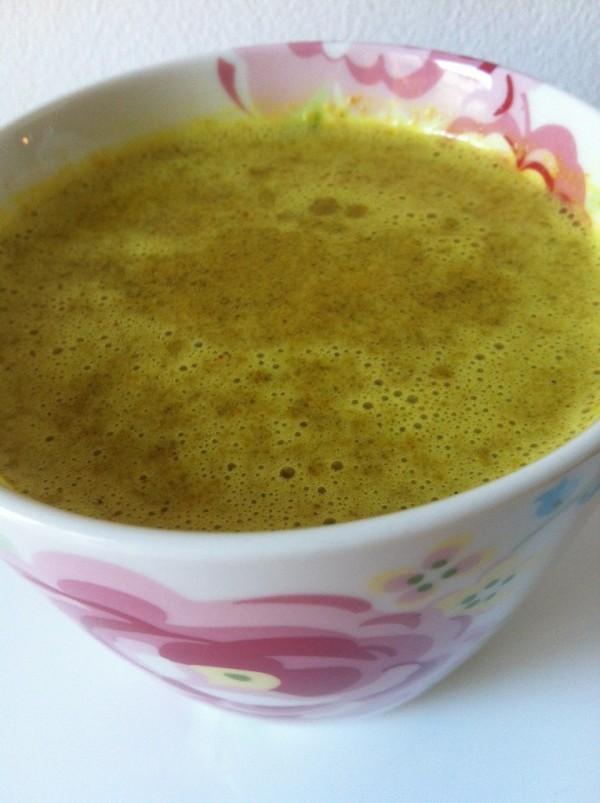 Min guldmjölk smakade himmelskt. Foto: privat